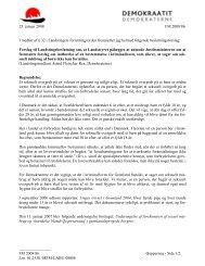 Forslag til Landstingsbeslutning om, at Landsstyret ... - Inatsisartut