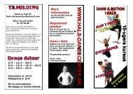 Program / Brochure for forårssæson 2009 - Dans i Hals - Velkommen