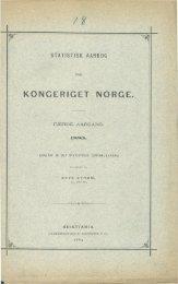 Statistisk Aarbog for Kongeriget Norge 1883