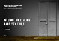 WEBSITE DO DIRETOR LARS VON TRIER - Paola Mouro