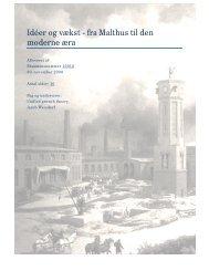 Idéer og vækst moderne æra - fra Malthus til den