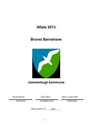Aftale 2013 Brovst Børnehave - Jammerbugt Kommune