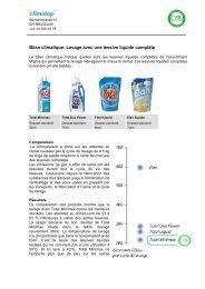 Bilan climatique: Lavage avec une lessive liquide complète - Climatop