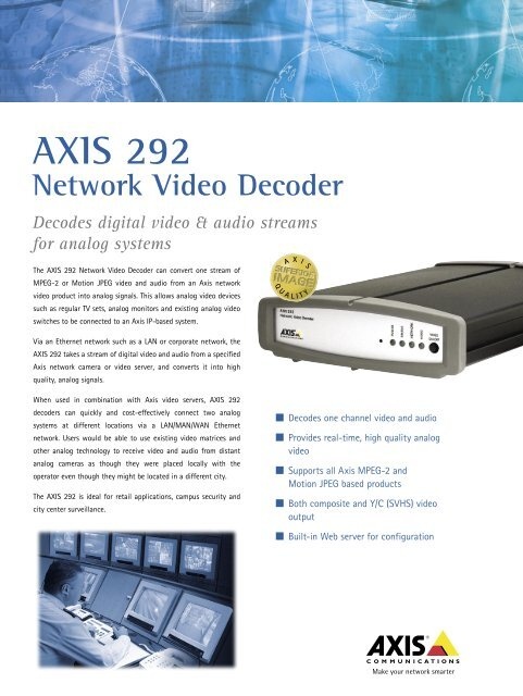 AXIS 292 Network Video Decoder