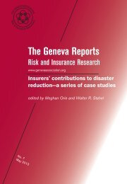 contributions to disaster reduction?a series of case studies Date