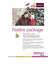 Festive Packages _3 - Mercure