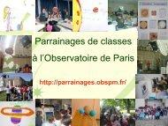 Parrainage de classes à l'Observatoire de Paris - Formation et ...