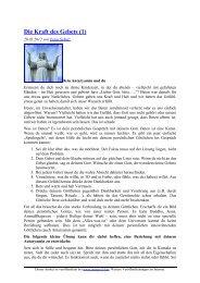 Die Kraft des Gebets (1) - oneness 24