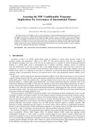 Assessing the IMF Conditionality Programs: Implications for ...