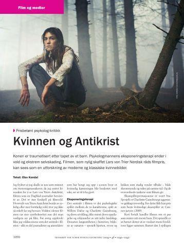 Kvin nen og An ti krist - Tidsskrift for Norsk Psykologforening