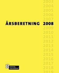 Årsberetning 2008 (pdf) - Amnesty International