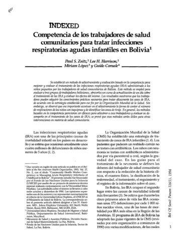 Competencia de los trabajadores de salud ... - PAHO/WHO