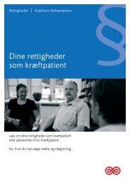 Dine rettigheder som kræftpatient - Kræftens Bekæmpelse