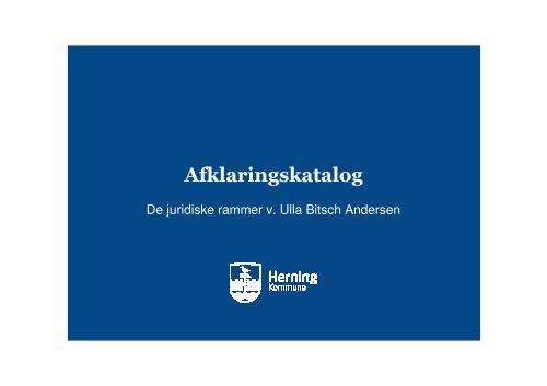 Oplæg 2 ved Ulla B. Andersen