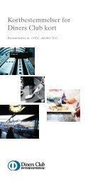 Kortbestemmelser for Diners Club kort Nr. 25, juli 2008 - SAS