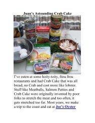 Juan's Astounding Crab Cake - The Geriatric Gourmet
