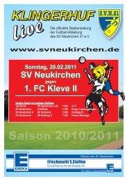 Stadionheft Nr.07 - SV Neukirchen - SV Neukirchen 21 e.V.
