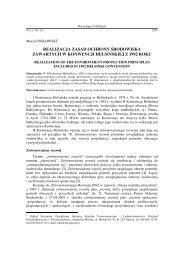 realizacja zasad ochrony środowiska zawartych w konwencji ...