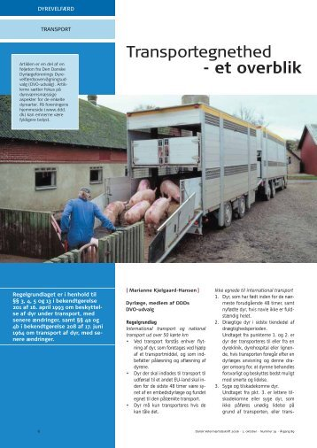 Transportegnethed - et overblik - Elbo