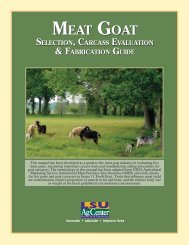 MEAT GOAT MEAT GOAT - The LSU AgCenter