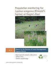 Lupinus oreganus population monitoring at Eagle's Rest, 2012
