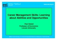 Career management skills - Lincoln University Research Archive