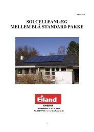 solcelleanlæg mellem blå standard pakke - Eiland Energi
