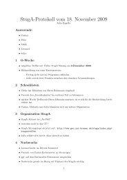 StugA-Protokoll vom 18. November 2009