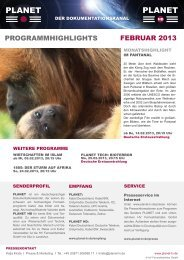 PROGRAMMHIGHLIGHTS FEBRUAR 2013 - Planet