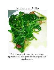 Espinaca al Ajillo - The Geriatric Gourmet