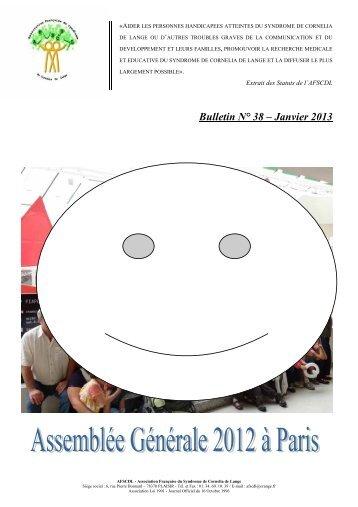 Bulletin N° 38 – Janvier 2013 - Orphanet