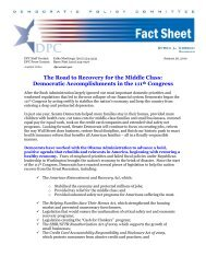 The Road to Recovery for the Middle Class - Democratic Policy ...
