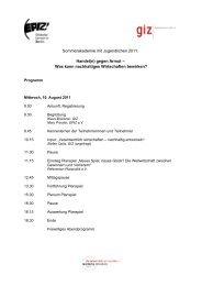 Programm - Über EPIZ