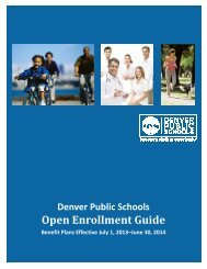 2013 DPS Open Enrollment Guide_V3A - Denver Public Schools