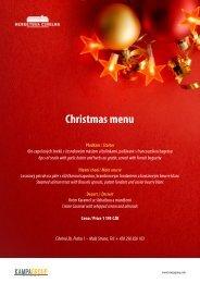 Christmas menu - Prague TV