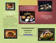 Catering Brochure - Amazon Web Services