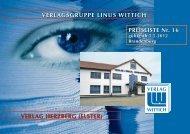 VERLAGSGRUPPE LINUS WITTICH PREISLISTE Nr. 16 VERLAG ...