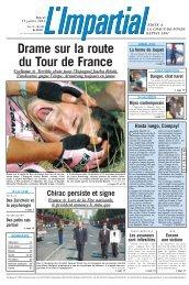 Drame sur la route du Tour de France