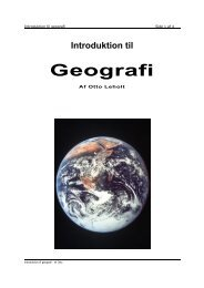 Introduktion til Geografi