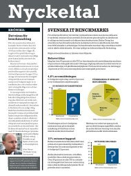SVEnSKa iT BEnCHMarKS nyckeltal - CIO Sweden