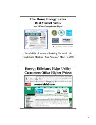 The Home Energy Saver Do-it-Yourself Survey - Evan Mills