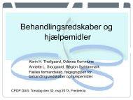 Behandlingsredskaber og hjælpemidler - CPOP