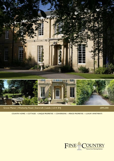 Grove Manor | Wetherby Road | Scarcroft | Leeds ... - Fine & Country