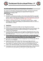 Tischtennis-Kreisverband Peine eV - TTVN