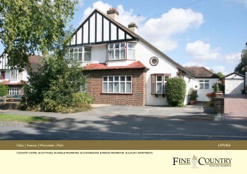Oaks | Avenue | Worcester | Park £479,950 - Fine & Country