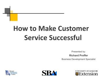How To Make Customer Service Successful Powerpoint