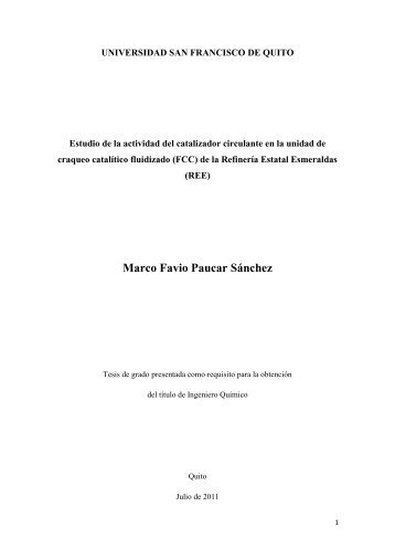 Marco Favio Paucar Sánchez - Repositorio Digital USFQ ...