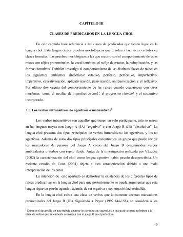 IV CLASES DE PREDICADOS