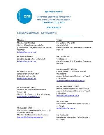 Rencontre Valmer Integrated Economies through the lens of ... - CMI