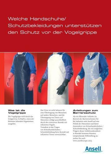 Bird Flu Leaflet de - Ansell Healthcare Europe
